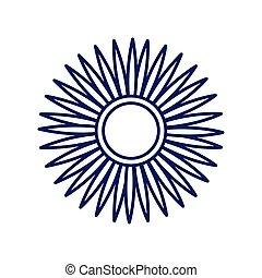 flower line style icon vector design