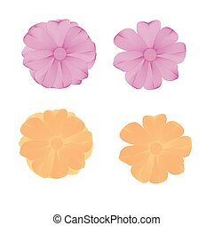 Flower lined pattern vector