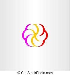 flower logo floral symbol vector