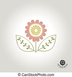 flower logo, icon and symbol vector illustration