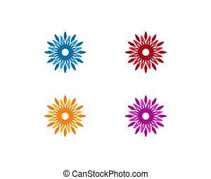 Flower Logo Icon Vector Template