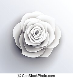 flower logo rose shape vector origami