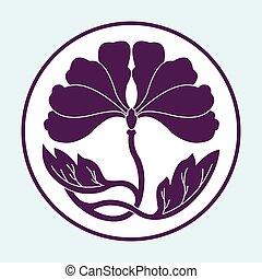 flower lotus flat simlpe pattern vector illustraton - flower...