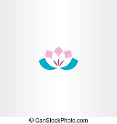 flower lotus logo icon vector symbol