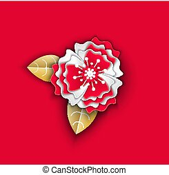 Flower Made of Paper Decor Origami for Holiday