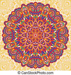 Flower Mandala. Abstract element for design