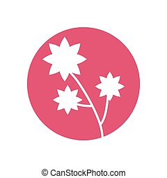 flower natural decoration icon
