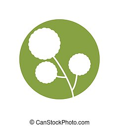 flower natural ornament icon