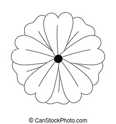 flower nature decoration, isolated design icon line style
