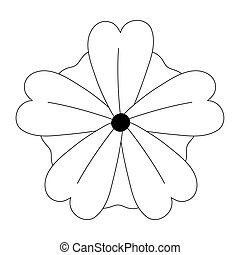 flower nature decoration isolated design icon style line style