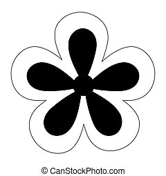 flower nature floral decoration isolated design icon line style