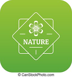 Flower nature icon green vector