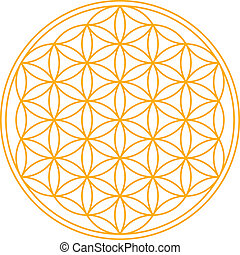 Flower of Life - A geomtrical figure, composed of multiple...