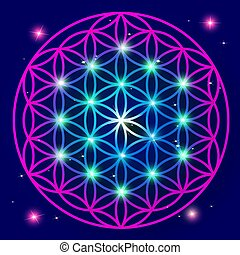 Flower Of Life Mandala ornament