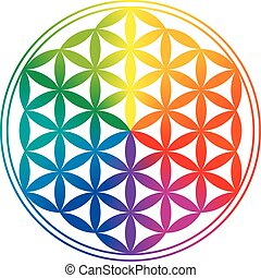 Flower of Life Rainbow Gradients