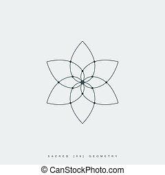 Set of sacred geometry icons.