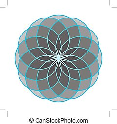 Flower of Life. Sacred Geometry.