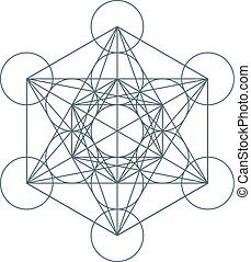 Flower of Life. Sacred Geometry. Symbol of Harmony and Balance. Vector