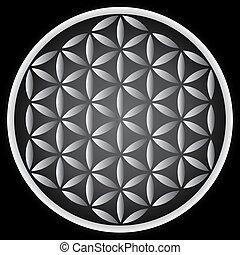 flower of life symbol - illustration