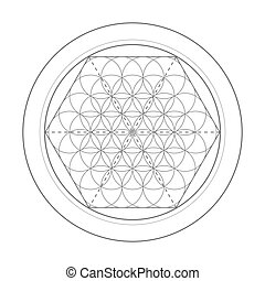 Flower Of Life symbol. Sacred geometry illustration