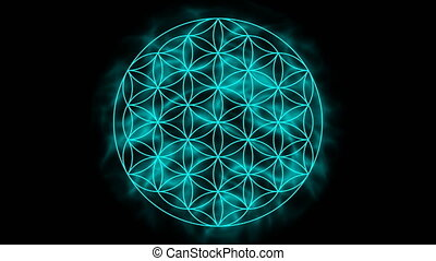 Flower of life with aura - Animation flower of life with...
