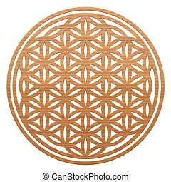 Flower Of Life Wooden Style