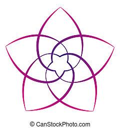 Flower of the Venus Pink - Pink flower of the venus, symbol...