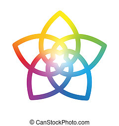 Flower of the Venus Rainbow White - Rainbow gradient colored...