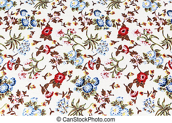 flower on fabric background