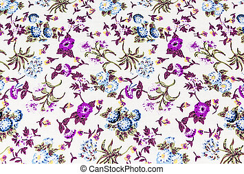 flower on fabric background, purple colour.