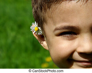 Flower on the ear
