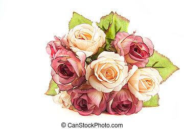 flower on white background
