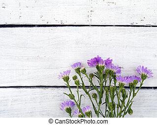 flower on wooden