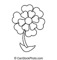 flower ornament natural outline