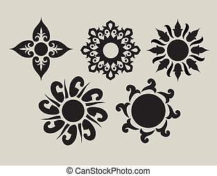Flower ornaments 2