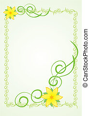 flower ornate border
