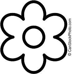 Flower outline icon. Vector bloom simple illustration.