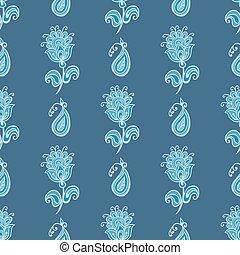 Flower paisley pattern. - flower paisley seamless pattern...