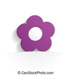 flower paper icon