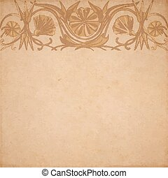 Flower parchment background