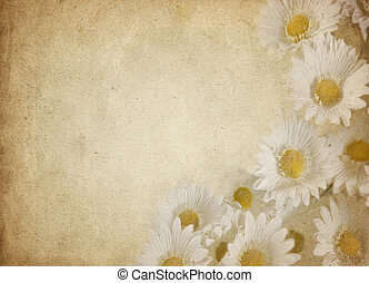 great old parchment paper with nice flowers