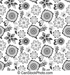 Flower pattern background. Vector illustration.