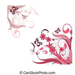 flower pattern corner