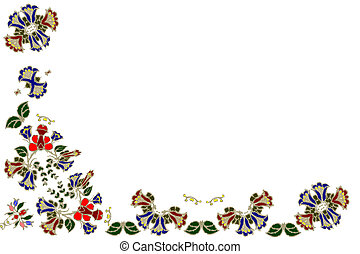 Flower pattern - Based on hungarian embroidery