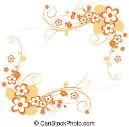 flower pattern - illustration drawing of beautiful orange...