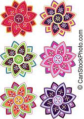 Flower pattern set