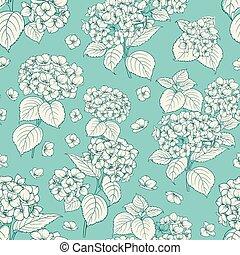 Flower pattern. - Flower pattern of hydrangea flowers....