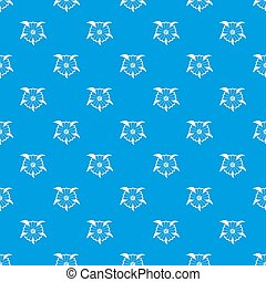Flower pattern seamless blue