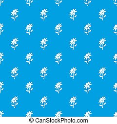 Flower pattern seamless blue