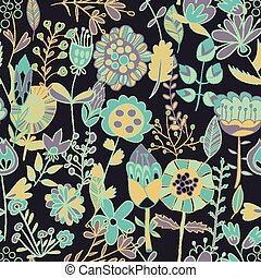 Flower pattern, seamless texture